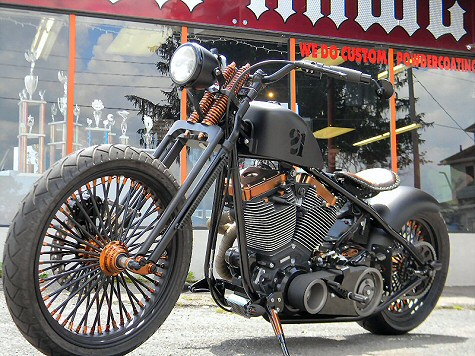 Custom Bobber Motorcycle Builders PA - Iron Hawg Custom Cycles Inc. Hazleton, PA.