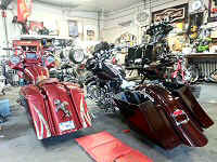 Custom Bagger Motorcycle Builders Pennsylvania Iron Hawg Custom Cycles