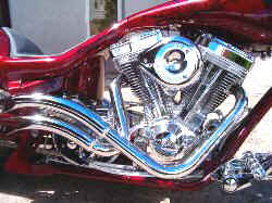 Martin Brothers Skirt Liftas Pipes, S&S Super Carb,  124 S&S Engine Show Polished, RSD 6 Speed Show Polished and Chromed