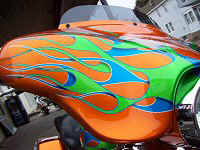 Custom Bagger Motorcycle Paint Graphics Pennsylvania Iron Hawg Custom Cycles
