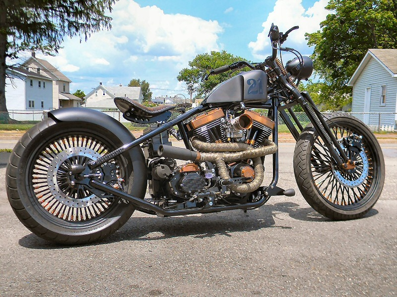 Motorcycle Rear Tire >> Custom Bobber Motorcycle Build - The Blitzkrieg Bobber,Custom Bobber Motorcycles PA,Custom ...