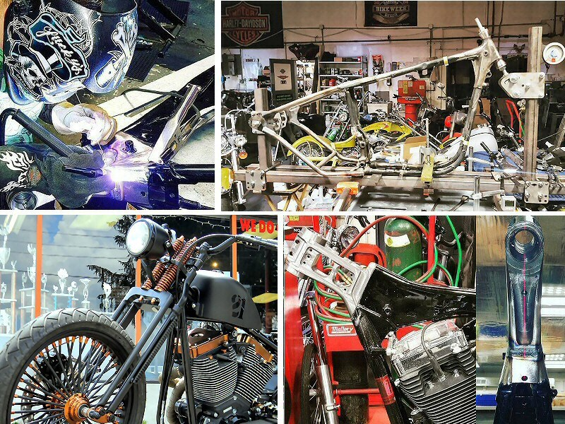 Custom Motorcycle Parts Fabrication Shop In Pennsyvlania, Custom Motorcycle Frame, Neck, Front Ends Fabrication & Modification